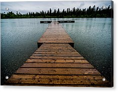 Acrylic Print featuring the photograph Rainy Dock by Darcy Michaelchuk
