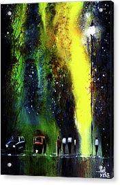 Rainy Evening Acrylic Print by Anil Nene