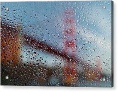Rainy Golden Gate Acrylic Print