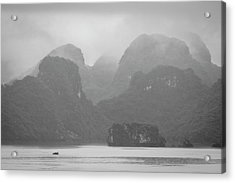 Acrylic Print featuring the photograph Rainy Ha Long Bay, Ha Long, 2014 by Hitendra SINKAR