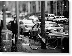 Rainy Melbourne Acrylic Print by Daniel Lih