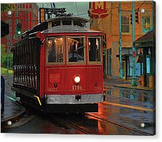 Rainy Night In Memphistenn Acrylic Print by Don Wolf