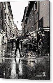 rainy night in Rome Acrylic Print