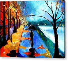 Rainy Night Acrylic Print by Tom Fedro - Fidostudio