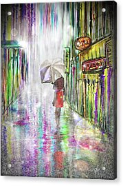 Rainy Paris Day Acrylic Print
