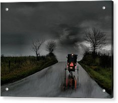 Rainy Ride Acrylic Print