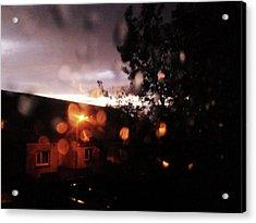 Rainy Sunset Acrylic Print by Chrisselle Mowatt