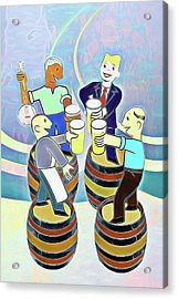 Raise A Glass To Wicked Weed Acrylic Print