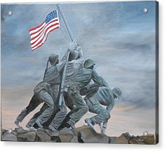 Raising The Flag At Iwo Jima Acrylic Print