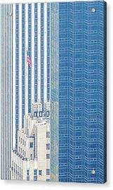 Raising The Flag Acrylic Print by Az Jackson