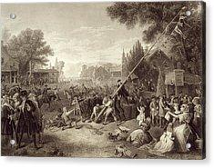 Raising The Liberty Pole 1776. An Acrylic Print