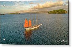 Raising The Sail Acrylic Print