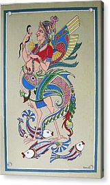 Raj Hanshi Fish Acrylic Print by Rabindra Meher