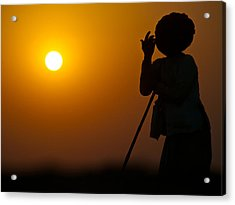 Rajasthan Silhouette Acrylic Print