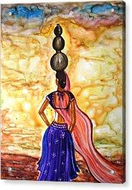 Rajasthani Lady-allure Acrylic Print