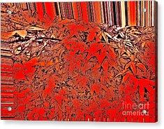 Raking Leaves Acrylic Print by Marsha Heiken