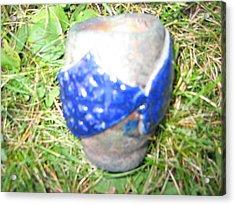 Raku Pinch Pot Acrylic Print by Julia Van Dine