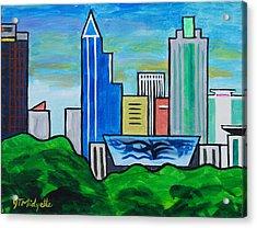 Raleigh Skyline 3 Acrylic Print