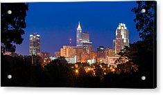 Raleigh Skyline Acrylic Print