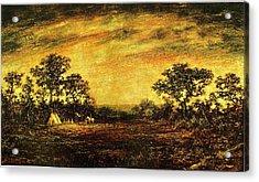 Ralph Blakelock, Indian Encampment Acrylic Print