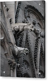 Acrylic Print featuring the photograph Ram And Eagle Griffon Notre Dame by Christopher Kirby