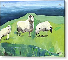 Ram On A Hill Acrylic Print