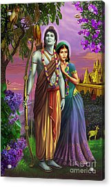 Rama And Sita  Acrylic Print