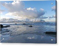 Ramberg Beach, Lofoten Nordland Acrylic Print by Dubi Roman