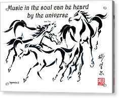 Acrylic Print featuring the painting Rambunctious With Lao Tzu Quote I by Bill Searle