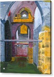 Acrylic Print featuring the painting Ramla Israel Cisterns by Linda Feinberg
