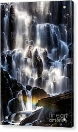 Ramona Falls With Rainbow Acrylic Print