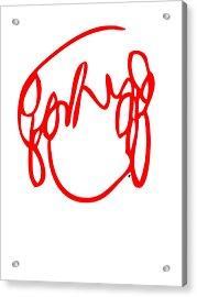 Ramona Flowers Red - Scott Pilgrim Vs The World Acrylic Print by Paul Telling