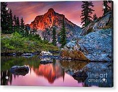 Rampart Lakes Tarn Acrylic Print by Inge Johnsson