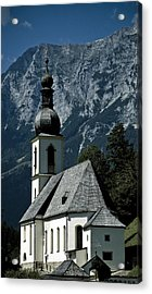 Ramsau Church Acrylic Print by Frank Tschakert