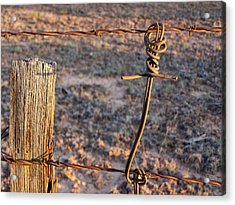 The Old Ranch Fence Acrylic Print