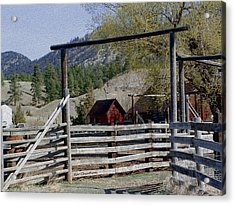 Ranch Fencing And Tool Shed Acrylic Print