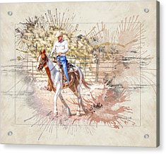 Ranch Rider Digital Art-b1 Acrylic Print
