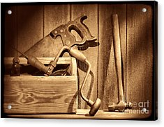 Ranch Tools  Acrylic Print by American West Legend By Olivier Le Queinec