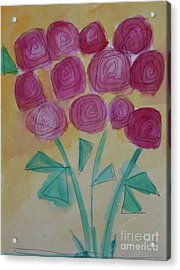 Acrylic Print featuring the painting Randi's Roses by Kim Nelson