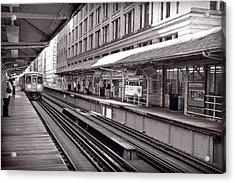 Randolph Street Station Chicago Acrylic Print by Steve Gadomski