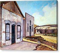 Randsburg California Acrylic Print by Evelyne Boynton Grierson