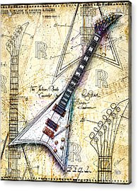 Randy's Guitar Acrylic Print by Gary Bodnar