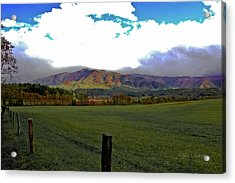 Range Neath The Mountain Acrylic Print by DigiArt Diaries by Vicky B Fuller