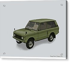 Acrylic Print featuring the mixed media Range Rover Classical 1970 by TortureLord Art