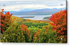 Rangeley Lake And Rangeley Plantation Acrylic Print by Mike Breau