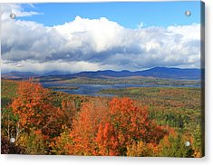 Rangeley Lake Autumn View Acrylic Print