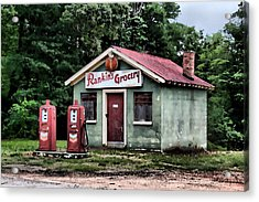 Rankins Grocery In Watercolor Acrylic Print