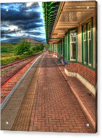 Rannoch Station Platform Acrylic Print by Chris Thaxter