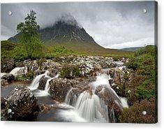 Acrylic Print featuring the photograph Rannoch Moor Landscape Glencoe Landscape by Michalakis Ppalis