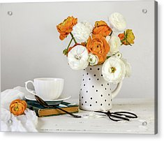 Acrylic Print featuring the photograph Ranunculus Bouquet by Kim Hojnacki